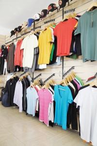 Merchandise.nl textielwand in showroom