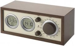Klassieke radio met thermometer