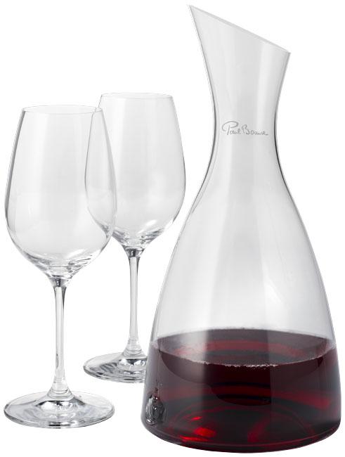 Prestige decanteerfles met 2 wijnglazen