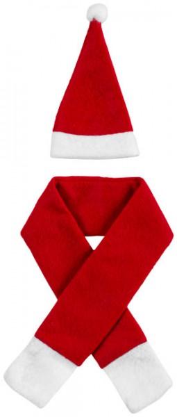 Honka flesdecoratieset kerstsjaal en -muts