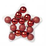BOLASSTAR 15 Kerstballen in ster         CX1396-05