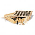 TRIKES 4 Spelletjes in houten doos    KC2941-40