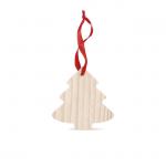 WOOTREE Kerstboomvormige houten hanger CX1374-40