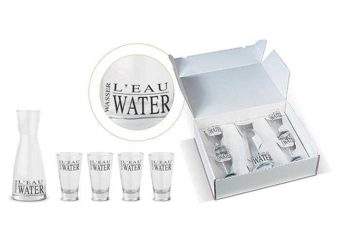 L'eau karafset met 4 glazen