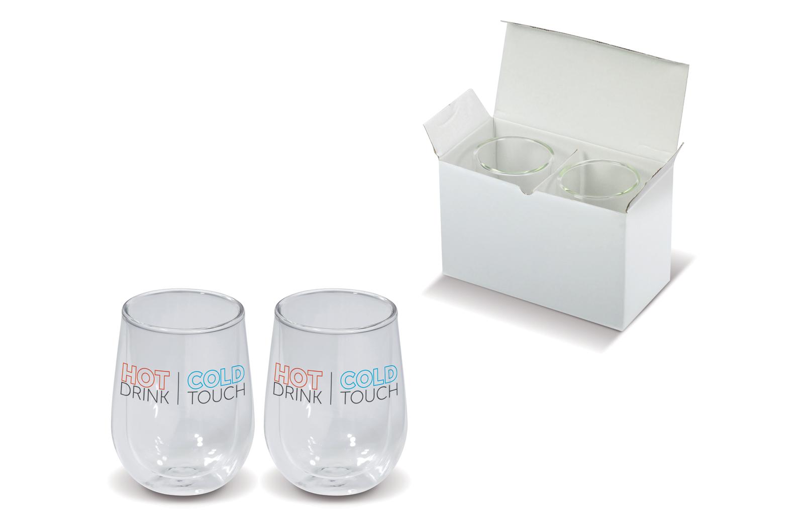2 dubbelwandige glazen 20 cl