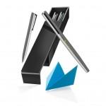 Verto is een set bestaande uit een ballpoint pen en een rollerbalpen gemaakt van hoogwaardig koper