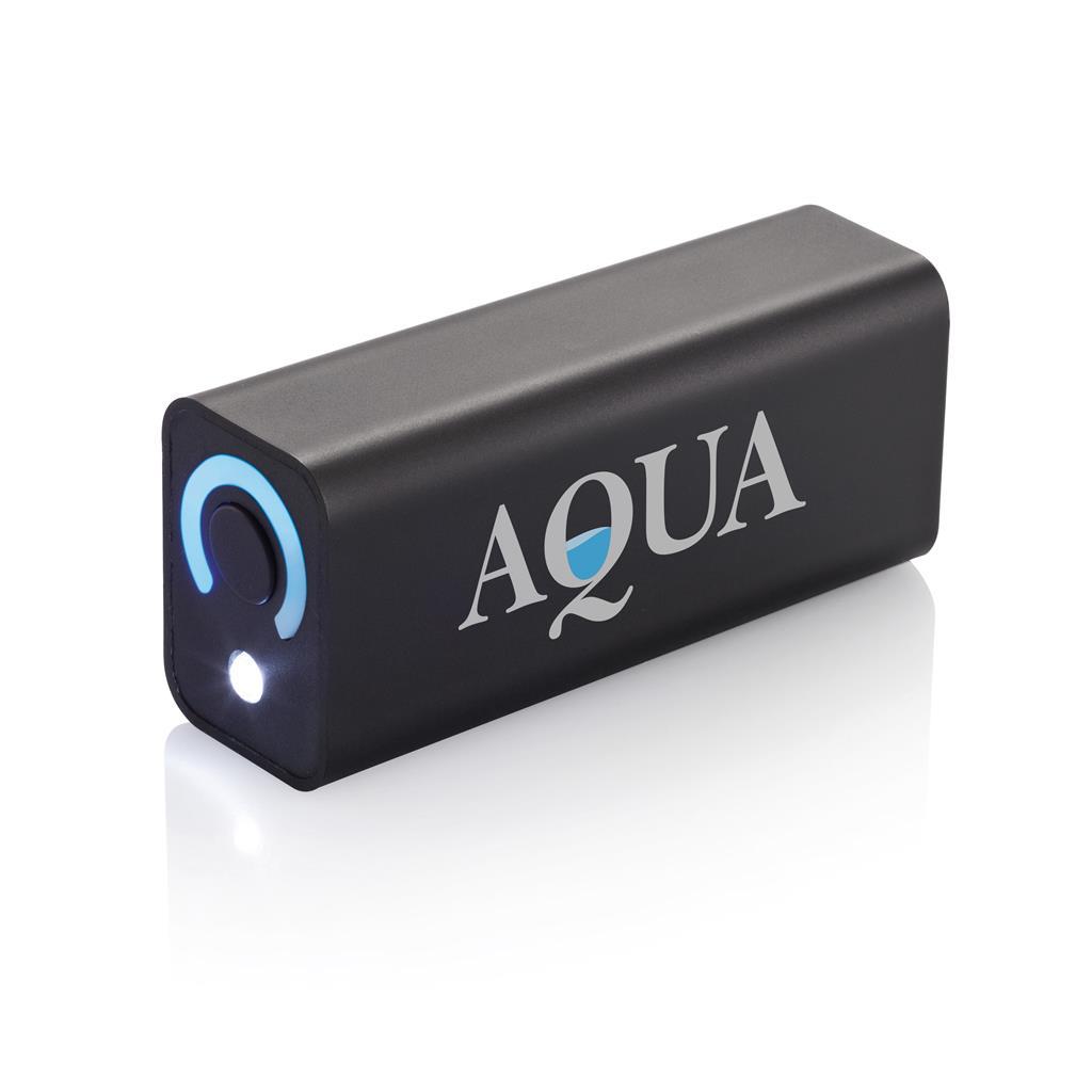 Draagbare ABS powerbank met hoogwaardige 3000 mAh Samsung lithium batterij. Output 5V/1A en input 5V/1A. Inclusief micro USB kabel.