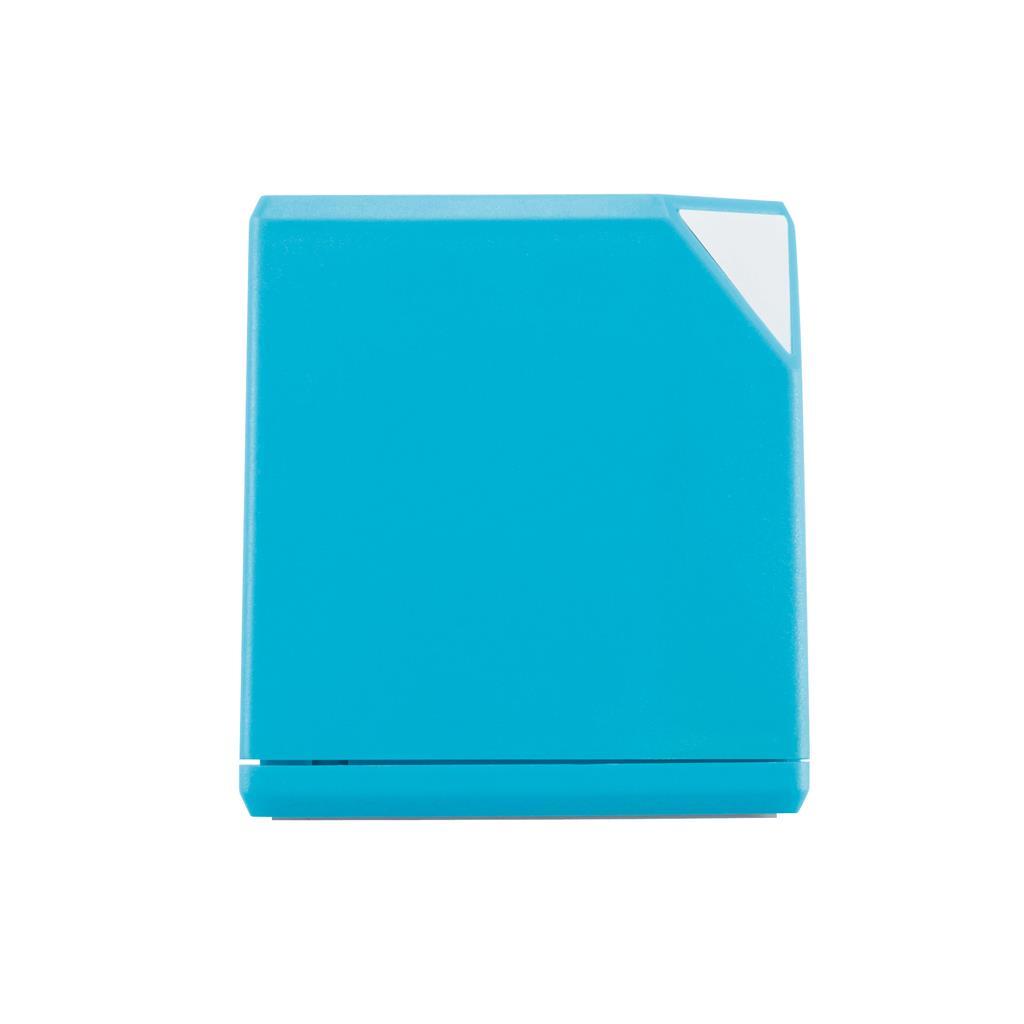 3W kubus bluetooth speaker met 400 mAh batterij. Kan ook gebruikt worden met de bijgesloten audiokabels. Wordt geleverd met een band om uw speaker op te hangen.