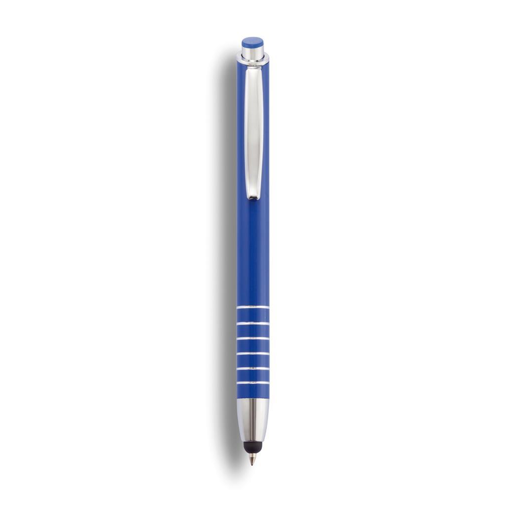 Aluminium ballpoint pen en touch pen in één.