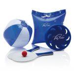 Tas te gebruiken als opblaasbaar kussen met inhoud: frisbee