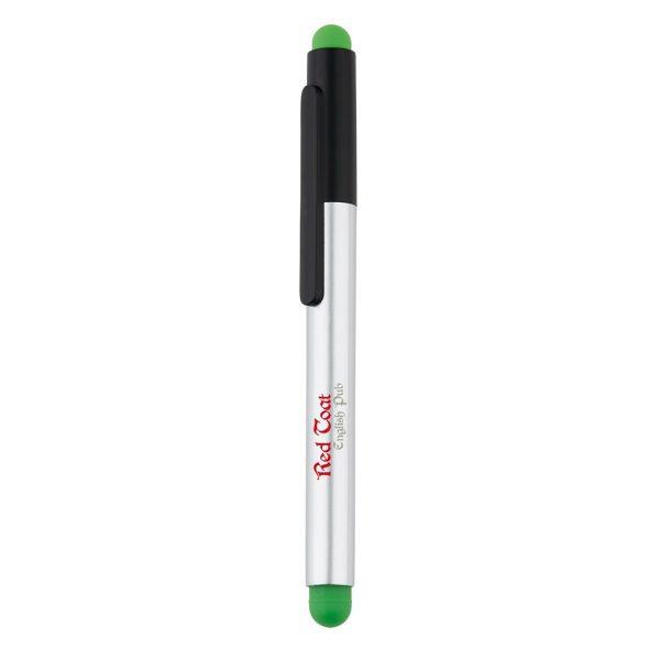 Kunststof stylus pen met onderin een handige uitneembare telefoon standaard. Het voordeel hiervan is dat de stylus en pen tegelijkertijd met het standaardje kan worden gebruikt. Geschikt voor meest gebruikte telefoons zoals: iPhone 5 and 6
