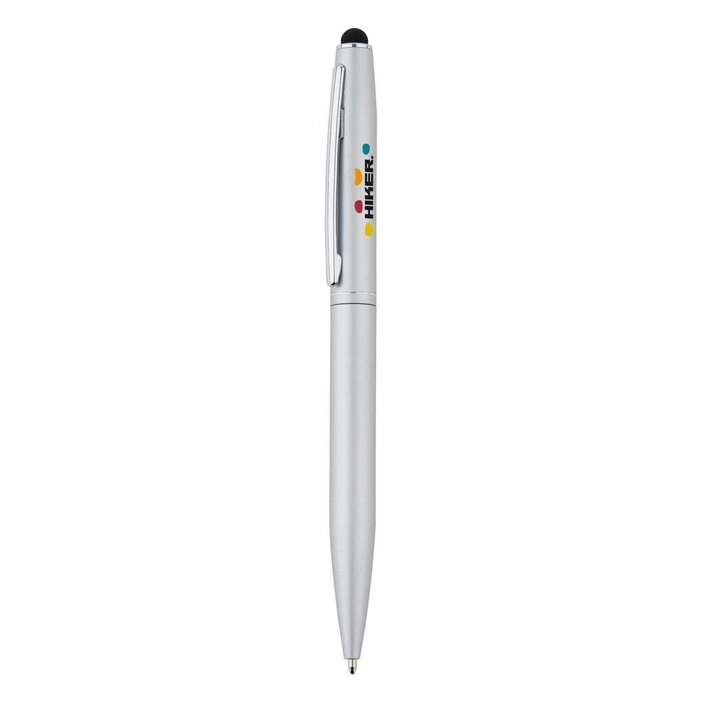 Klassieke aluminium stylus balpen met draaimechanisme. Inclusief Duitse ca. 1200m schrijflengte Dokumental® blauwe inkt vulling met TC-ball voor ultra vloeiend schrijfplezier.