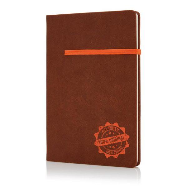 Creatief ontwerp A5 PU notitieboek met de bladwijzer