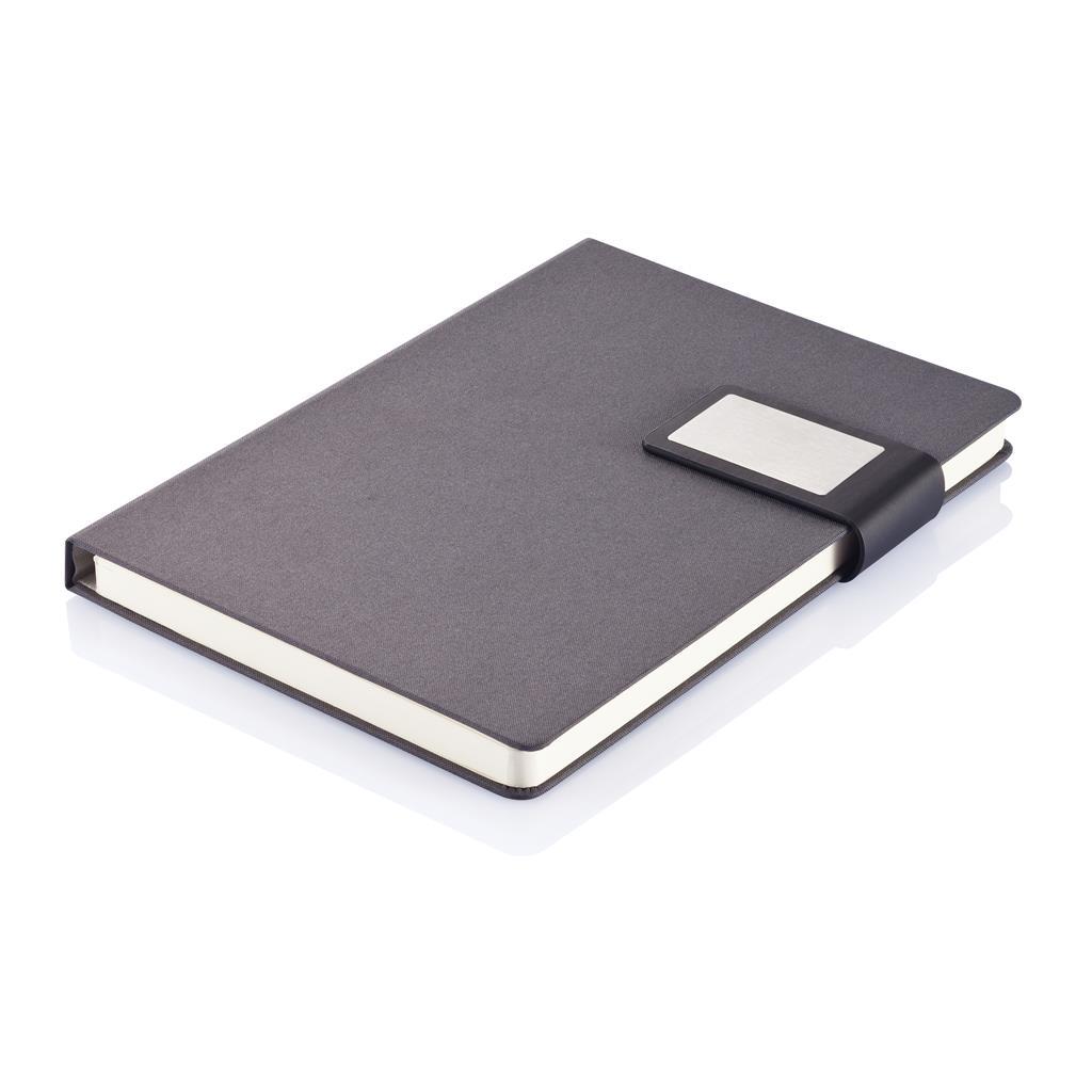 Prestige is een stijlvolle A5 notitieboek set met stof aan binnen- en buitenzijde