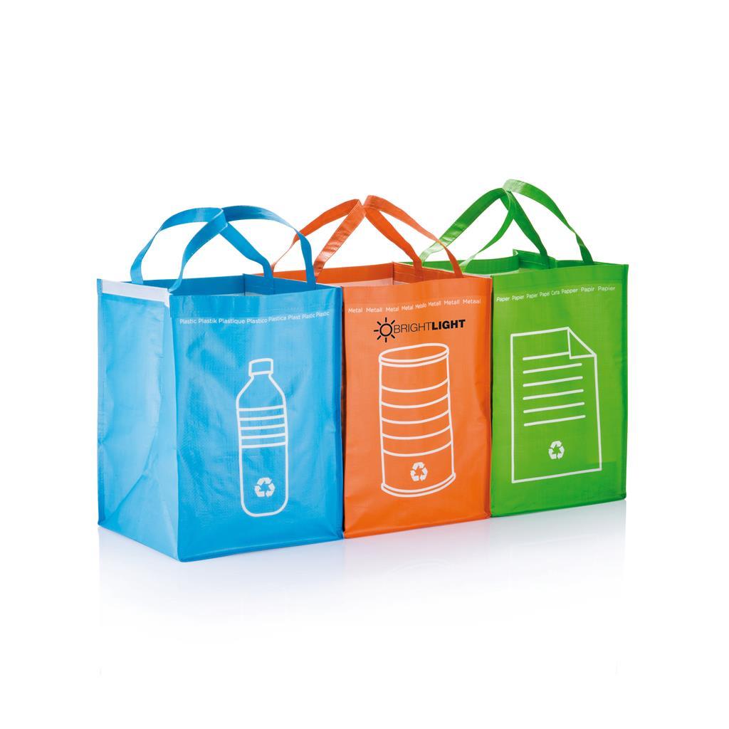 3 tassen voor het scheiden van metaal
